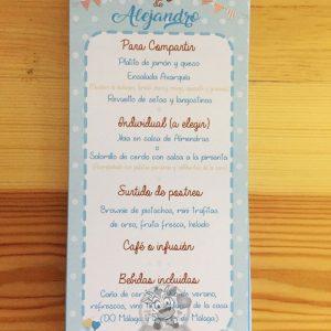 Detalles de bautizo en papel con diseño personalizado