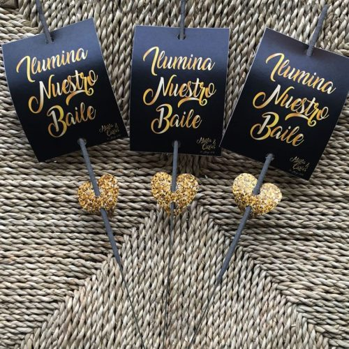 Bengalas para bodas con diseño personalizado ilumina