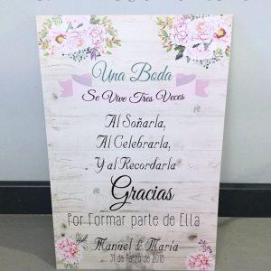 Detalles de boda en papel bienvenidos cartel de boda