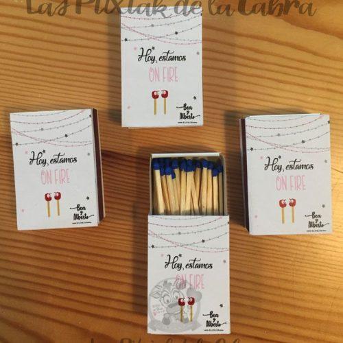 Cerillas para bodas con diseño personalizado