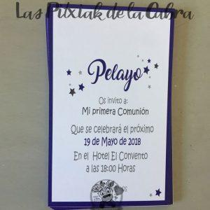 Detalles de comunión en papel con diseño personalizado