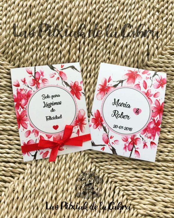 Pañuelos para lágrimas de felicidad con diseño personalizado