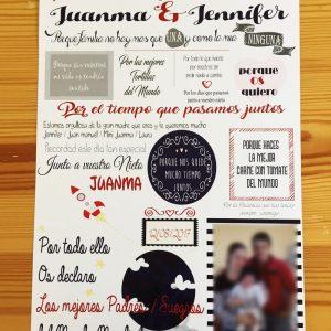 Diploma para la familia de los novios boda