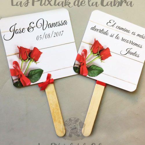 Pai pai para abanicarse en las bodas con diseño personalizado