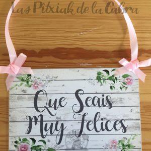 Cartel que seáis muy felices para bodas