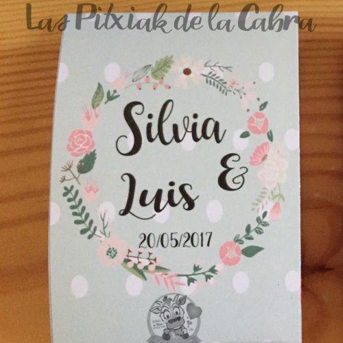 Lágrimas de felicidad, pañuelos para bodas verdes con flores