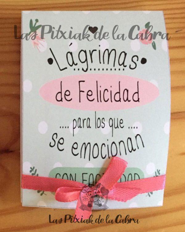 Lágrimas de felicidad, pañuelos para bodas para los que se emocionan con flores