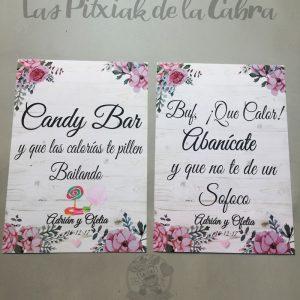Cartelería para bodas con diseño personalizado