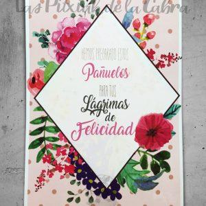 Cartel para bodas con diseño personalizado