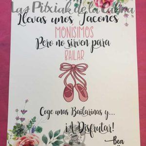 Cartel para bodas tacones monisimos y bailarinas