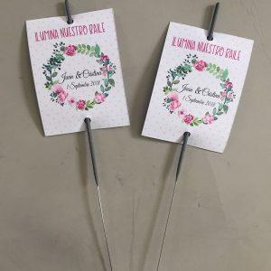 Bengalas para bodas con diseño de flores