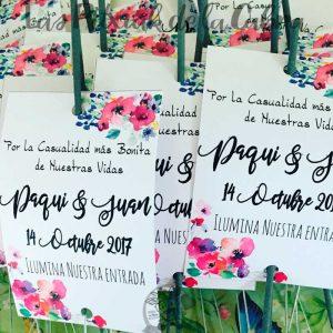 Bengalas de boda casualidad flores