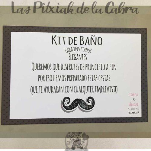 Cartel para el kit de baño invitados elegantes