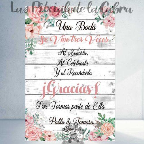 Cartel se vive tres veces las bodas bienvenidos
