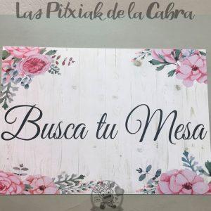 Cartel para bodas busca tu mesa