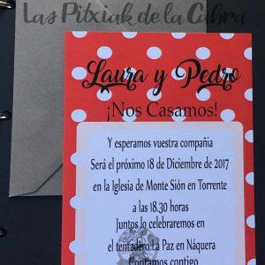 Invitación de bodas flamenca