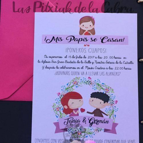 Mis papis se casan invitación de bodas