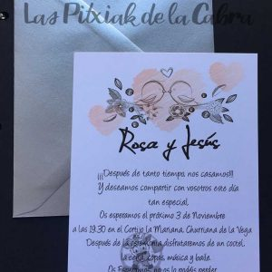 Invitación de bodas pajarillos