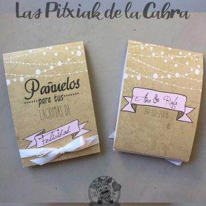 Pañuelos para tus lágrimas de felicidad para bodas