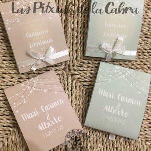 Pañuelos para bodas con diseño en dos colores