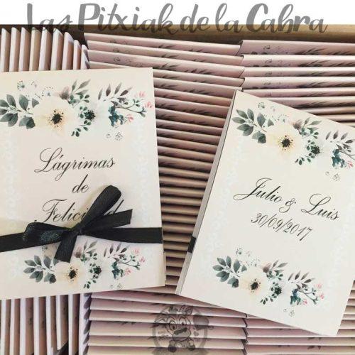 Pañuelos para lágrimas de felicidad de bodas flores bonitas