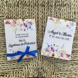 Pañuelos para lágrimas de felicidad de bodas llorar es imprescindible