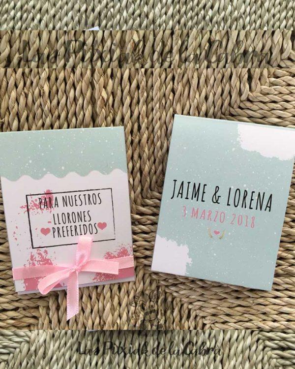 Pañuelos para lágrimas de felicidad de bodas para nuestros llorones preferidos