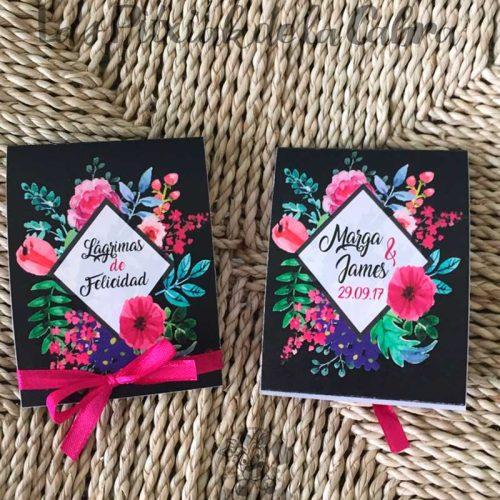 Pañuelos para lágrimas de felicidad de bodas negras