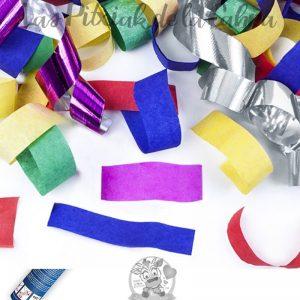 Cañón de confeti de colores festivo