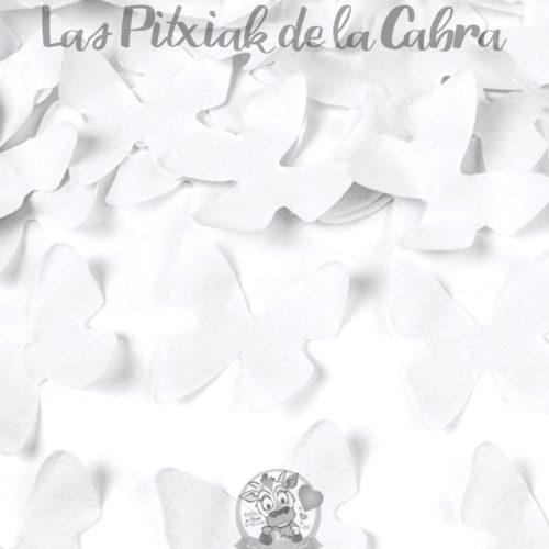 Cañón de confeti mariposas de papel blancas