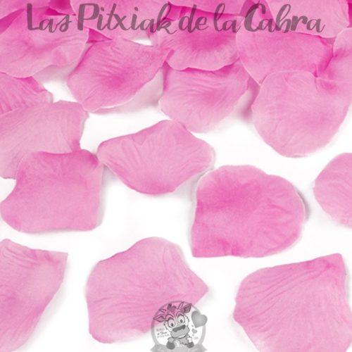 Cañón de confeti de colores pétalos rosas