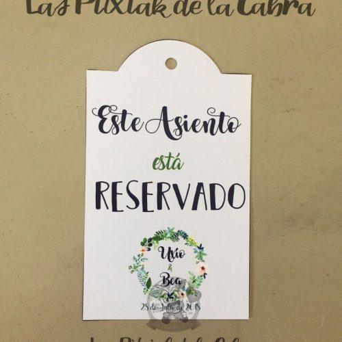Este asiento está reservado bodas flores verdes