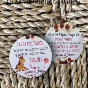 Etiquetas y pegatinas para los detalles de los niños