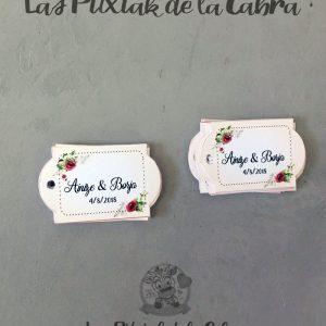 Etiquetas para detalles de bodas alargadas granates