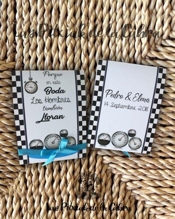 Pañuelos para boda lágrimas de felicidad carreras