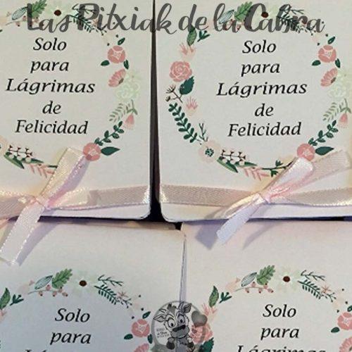 Pañuelos para boda lágrimas de felicidad clásicas