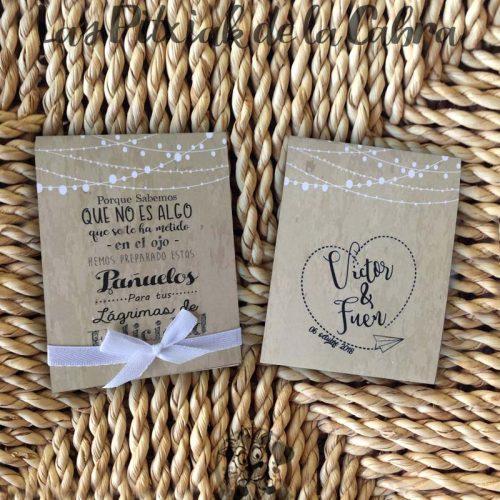 Pañuelos para boda lágrimas de felicidad corazón viajero