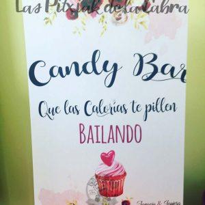 Cartel para bodas candy bar cupcake