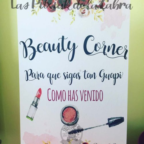 Cartel para bodas beauty corner