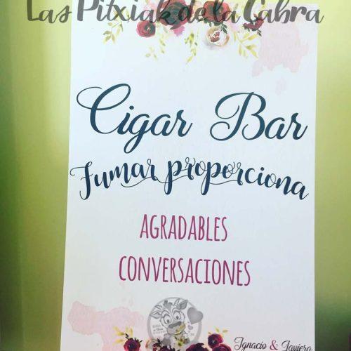 Cartel para bodas fumar proporciona convesaciones agradables