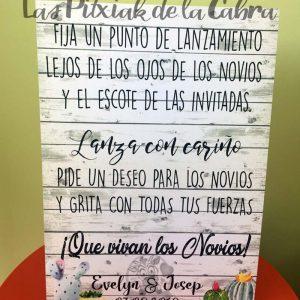 Cartel para bodas fijar el punto de lanzamiento