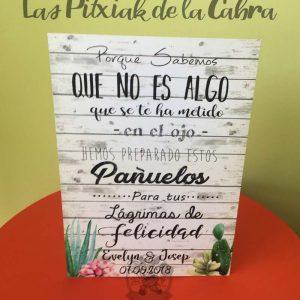 Cartel para bodas lagrimas con cactus