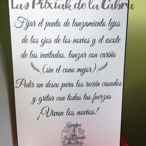 Cartel para bodas instrucciones para conos