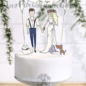 Topper para tartas boda my love