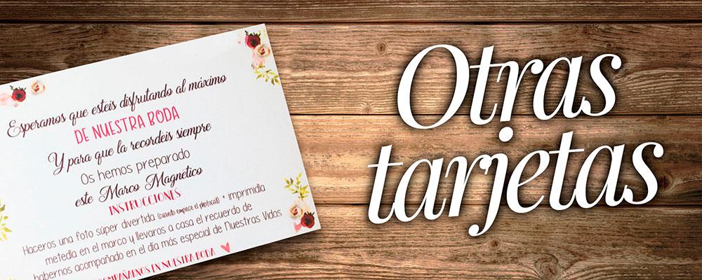 Otras tarjetas para bodas
