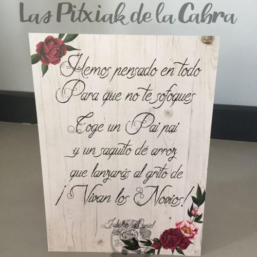 Cartel para los elementos de la boda flores oscuras