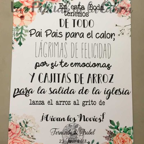 Tenemos de todo en esta boda con flores