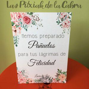 Cartel para bodas lágrimas de felicidad con acuarela