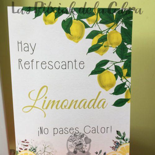 Cartel para bodas hay refrescante limonada con limones reales