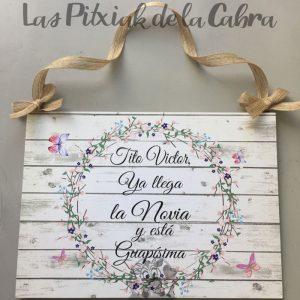 Cartel para boda la novia está guapísima
